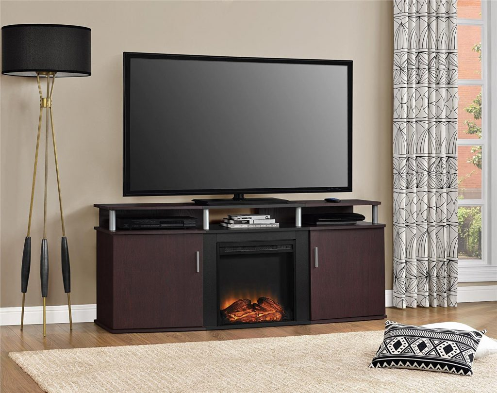 tv stand with electric fireplace 2