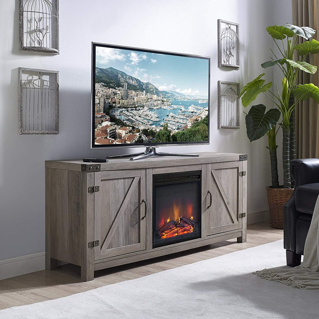 tv stand with fireplace 1
