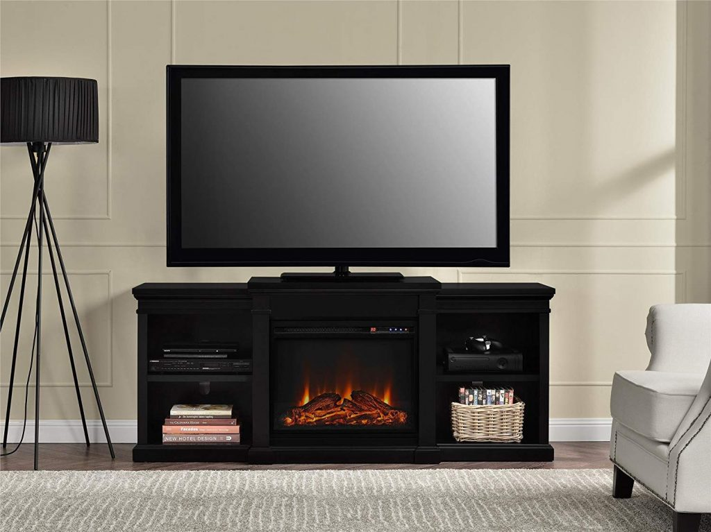 65 Inch TV Stand With Fireplace 1