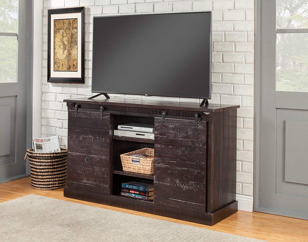 Black Barn Door TV Stand 1
