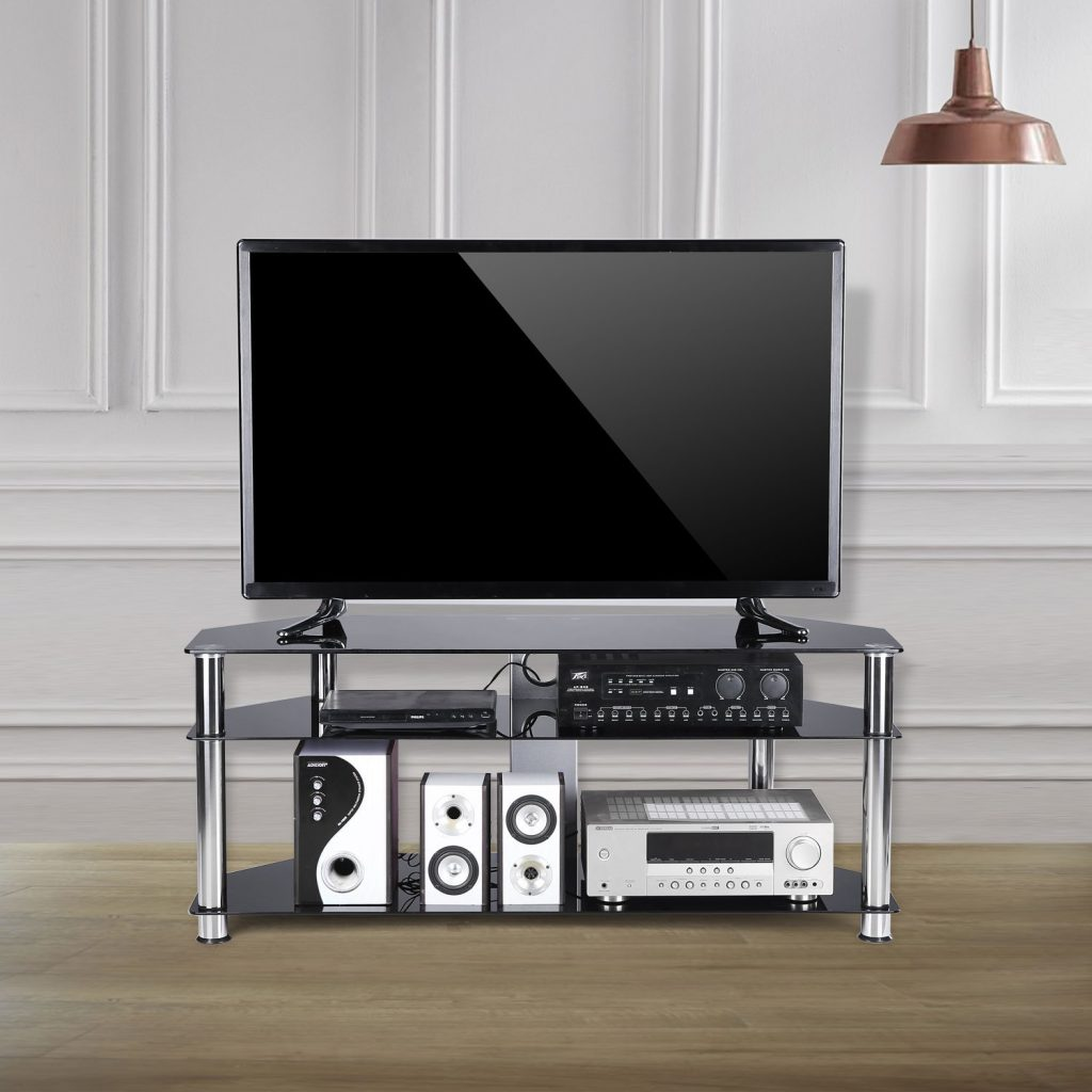 Black Glass TV Stand 1