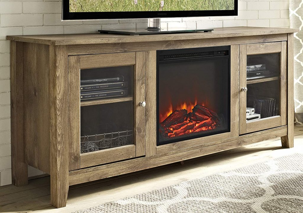 Cheap TV Stand With Fireplace 1