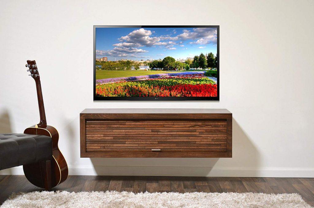 Floating Corner TV Stand 1