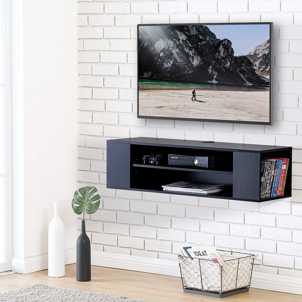 Floating TV Stand white and black