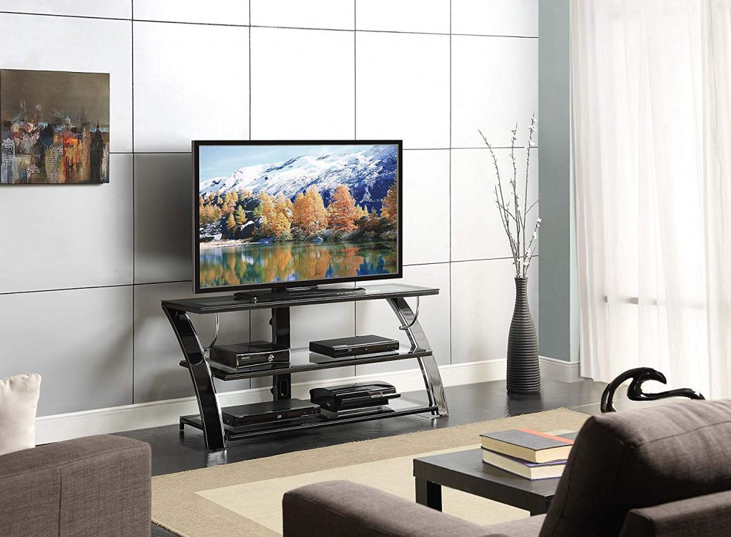 Glass TV Stand With Mount 1