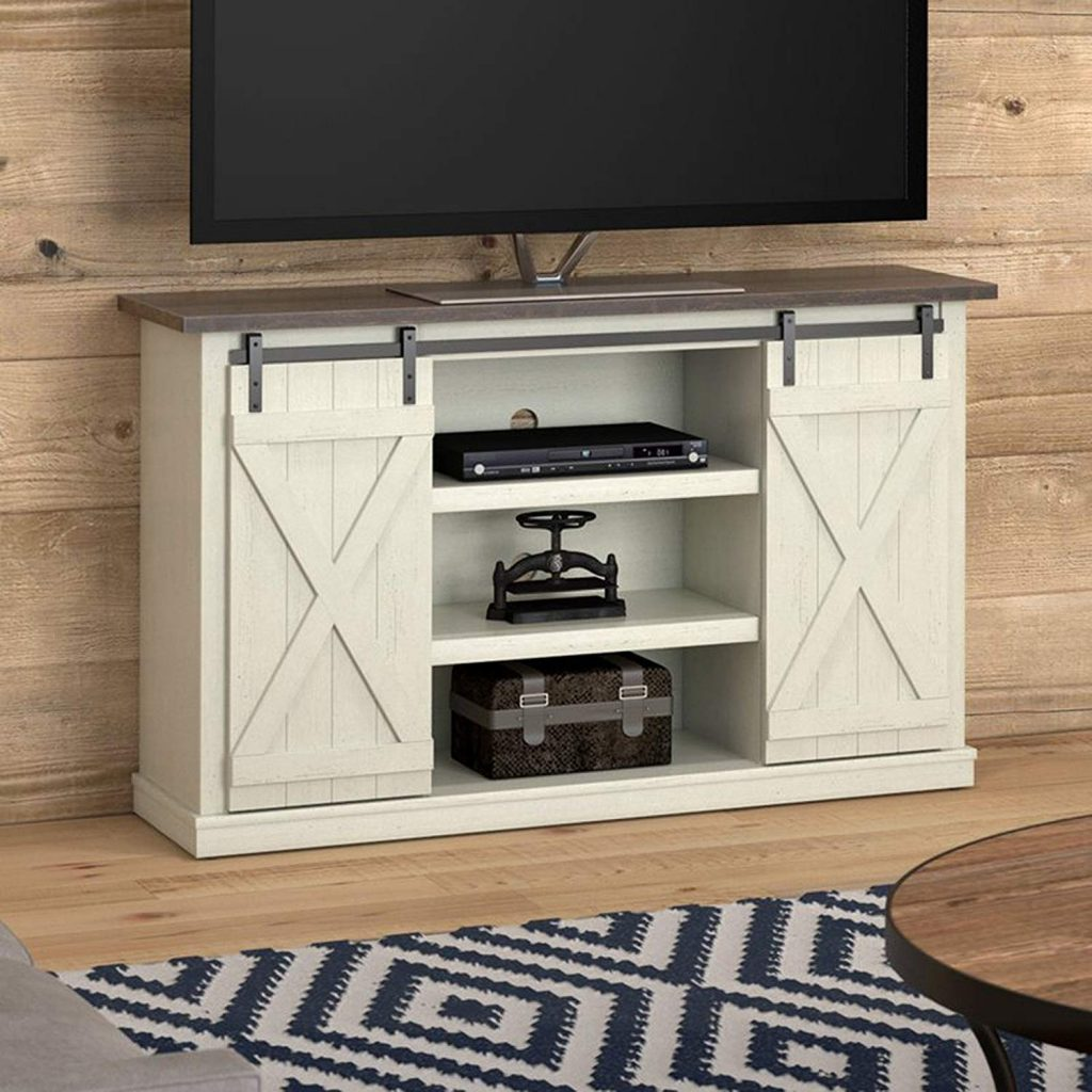 White Rustic TV Stand 1