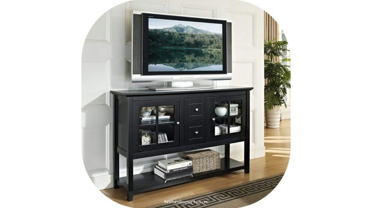 black tv stand mini